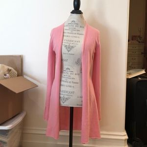Allude Pink Cashmere Open Face Sweater
